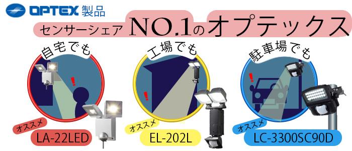 センサーシェアNo1オプテックス