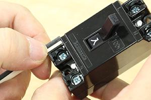 配線用遮断器(ブレーカー)への結線