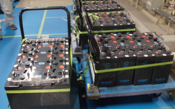 鉛蓄電池交換前