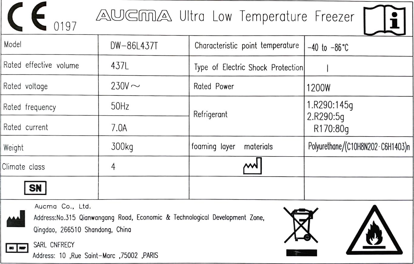 -86℃ 超低温 冷凍庫 DW-86L437T
