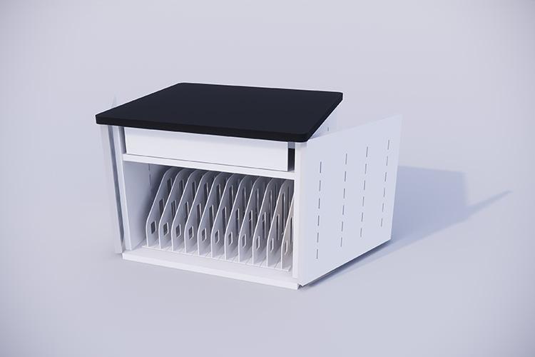 タブレット充電保管庫11ポート 両扉 空いた状態