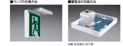LED誘導灯の交換例